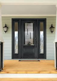 home entry doors black entry door with modern glass insert and full double home front door