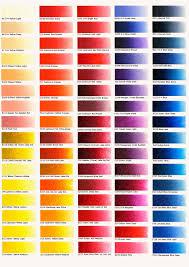Oil Paint Colour Chart 78 Bright Oil Paint Pigment Chart