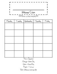 Interpretive Free Printable Behavior Charts For Teachers