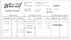 Fake Pay Stubs For Apartment Stub Template Paycheck