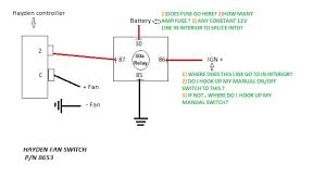 wiring electric fan with hayden sensor third generation f body Wiring Diagram Of Electric Fan wiring electric fan with hayden sensor hyaden fan switch diagram jpg wiring diagram for electric fan 12 volt