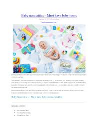 baby item checklist baby necessities must have baby items