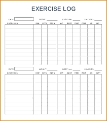 Workout Log Exercise Sheet Template Spreadsheet Bityar Co