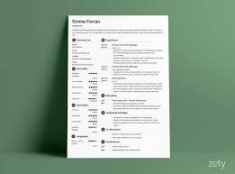 Modern Sleek Resume Templates 15 Minimalist Resume Templates Clean Sleek Design