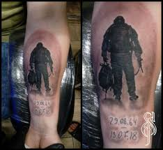 в память об отце Tattoo отцы