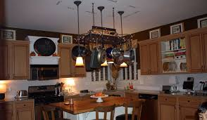 Image Of: Hanging Pot Rack With Lights
