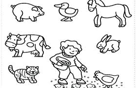 Free Coloring Pages Farm Animals