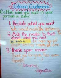 juice boxes and crayolas persuasive writing boot camp  juice boxes and crayolas persuasive writing boot camp conclusions anchor chart