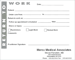 Doctors Note Template Pdf Free Fake Awesome Printable Notes