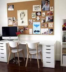 home office workspace. Cool Image Of Home Office Decoration Using Two Person Computer Desk : Classy Workspace
