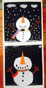 Schneemänner Aus Tonkarton Klasse 3 Winter Kunstprojekte