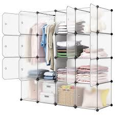 modular cube storage. Contemporary Modular 16Cube Organizer Stackable Plastic Cube Storage Shelves Modular Closet  Cabinet And
