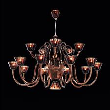 murano luxury bronze glass chandelier