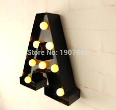 light up wall letters 9 metal letters light led alphabet marquee sign light up vintage metal