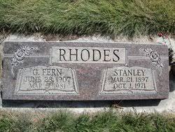 Stanley Rhodes (1897-1971) - Find A Grave Memorial