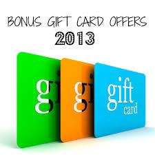 bonus gift card offers