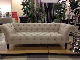 nicole miller sofa tufted linen i purchased this exact sofa at home goods two weeks