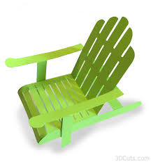 adirondack chair silhouette.  Silhouette 3D Adirondack Chair Tutorial On Silhouette