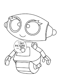 Small Picture Coloring Pages Coloring Pages Of Robots In Cartoon Coloring Style