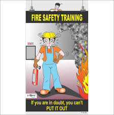 Fire Safety Poster Fire Safety Training Paper Print