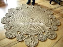 playful rug area rug braided rug jute rug handmade rug 5 ft 150 cm no 001