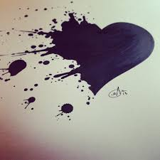 Splatter Heart By Srj Artdeviantartcom On At Deviantart Cool Cover