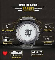 Digital Hiking Watches Men Fishing Weather Altimeter