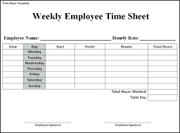 Timesheets Xls Weekly Time Sheets Free Printable Business Templates Template And