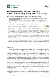 Exploring Design Technology Engineering Answer Key Pdf Exploring Secondary Students Alternative Conceptions