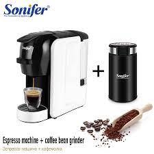 İtalyan Espresso elektrikli kahve kapsül makine 3 in 1 kapsülleri  Nespresso, kapsül Dolce Gusto, kahve tozu 220V Sonifer|Capsule Coffee  Machine