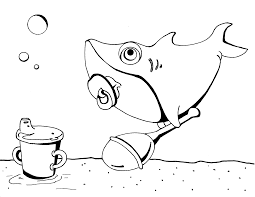 Small Picture Baby Shark coloring page Shark Coloring Pages Pinterest