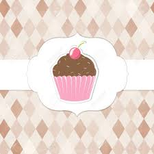 Vintage Cupcakes Labels Vector Background Royalty Free Cliparts
