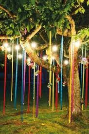 Lighting for parties ideas Garden Like The Long Ribbons Or Fabric For The Community Eating Area Outdoor Decorations For Party Pinterest 75 Best Party Lights Images