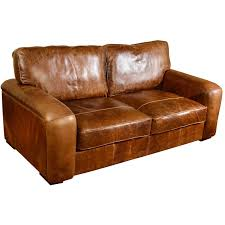 Vintage Brown Leather 2 Seater Sofa Centerfordemocracy Org