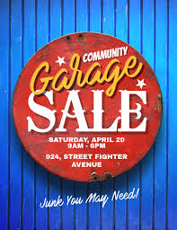 Community Garage Sale Flyer Poster Template Postermywall