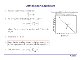 py4022 atmospheric pressure oassume hydrostatic equilibrium oas p rt and setting