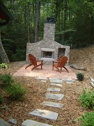 wonderful outdoor fireplace designs bring out natural concept diy outdoor stone fireplace two chairs stunning