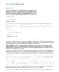 Dental Receptionist Cover Letter Receptionist Cover Letter For Resume