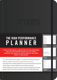 Free Online Monthly Planner Amazon Com The High Performance Planner 9781401957230
