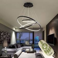 modern colorful chandelier. HOUDES Dimmable Chandelier Modern Lighting Acrylic Pendant Light With 108W For Living Room Dining Kitchen Foyers, 3 Colors In One Lamp Colorful V