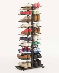 Large storage capacity. Depending on how that holds about 20 pairs of shoes!  Also, wear a Plavsic set up multifunctional storage.