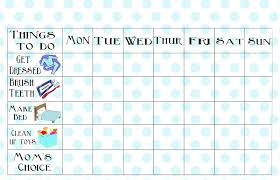 Chore Charts For Adults Printable Free Printable Chore Chart