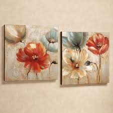 >joyful garden floral canvas wall art set touch to zoom
