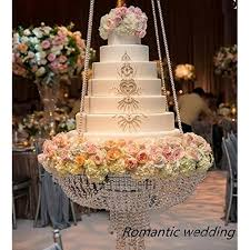 romantic wedding cake stand party decoration decorations wedding faux crystal chandelier style d suspended cake swing