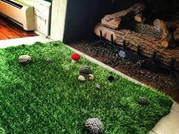 fake grass carpet decor