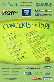 Concerts In The Park City Of Oregon City