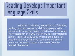 importance of reading powerpoint finished one reading develops important language skills