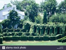 ladew topiary gardens view across great bowl to the terrace garden and house maryland