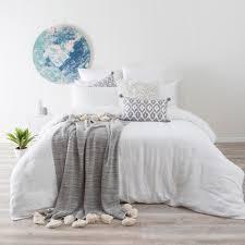 Washed Linen White Quilt Cover Set   Pillow Talk &  Adamdwight.com