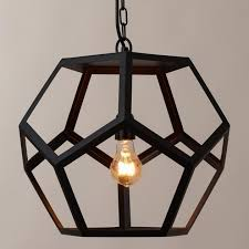 stylish black metal hexagon pendant lamp lighting design world market light photo world market pendant light e46